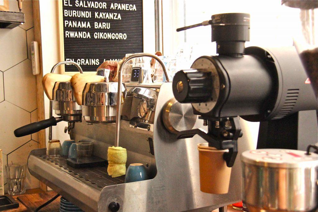 Machine à café du barista et torréfacteur Franck Madei