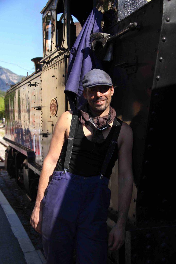 Portrait de chauffeur de locomotive