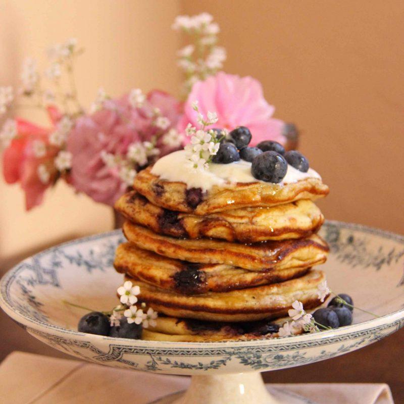 Tour de pancakes à la myrtille