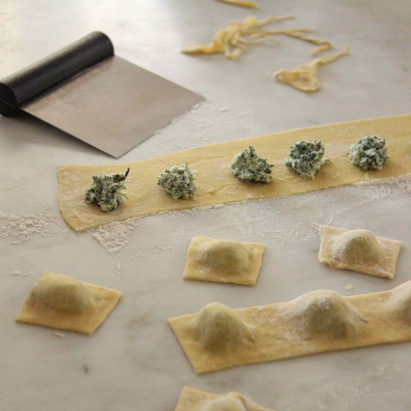 ravioli épinards-ricotta maison